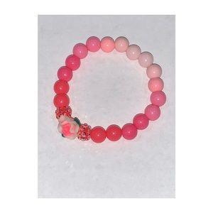 Pink Ombré Flower Bracelet